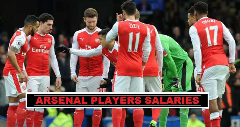 Arsenal players weekly wage 2017
