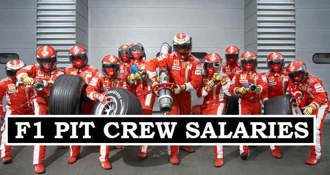 F1 Pit crew earnings 2017