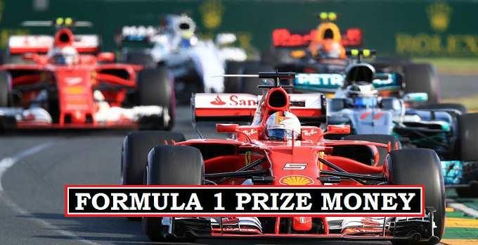 F1 2017 Prize Money