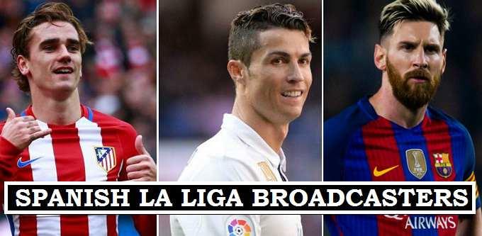 LA Liga Broadcasters 2017