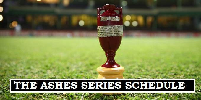 Ashes Matches dates 2017