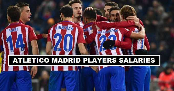 Atletico Madrid Players Weekly Wages 2017