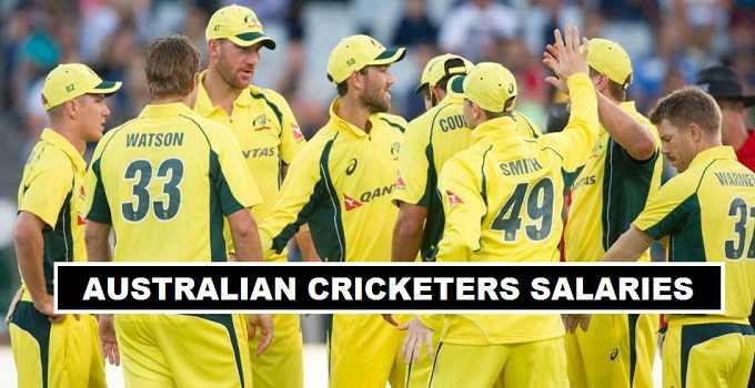 Australia Cricket Players Salaries 2017