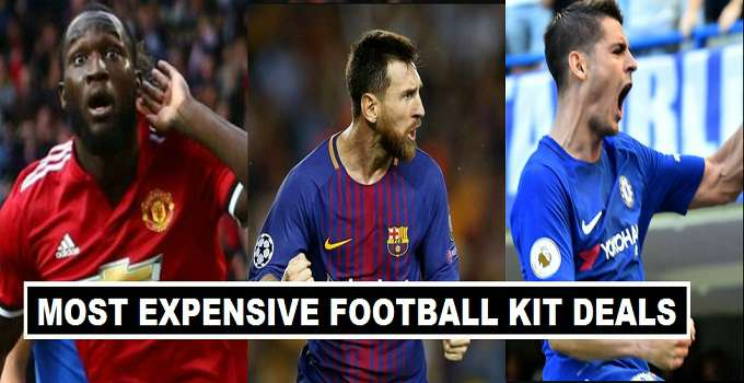 Top 10 Expensive Kit Deals in Football
