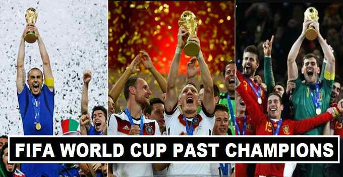 Fifa World Cup Past Champions 1930-2018
