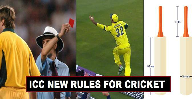 New Cricket Rules by ICC for 2017