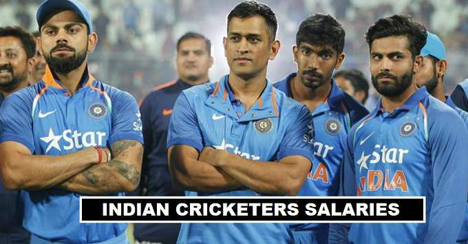 Indian cricketers Annual Earnings 2017-18