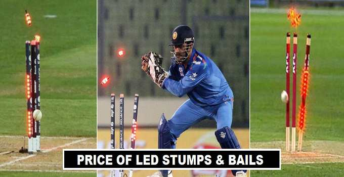 Cost of LED Stumps and Bails 2017