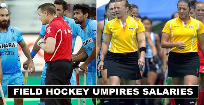 How much Field Hockey Umpires Salaries in 2017