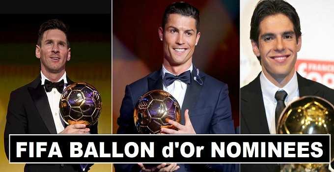 Ronaldo & Messi Nominated Ballon d'Or Award 2017