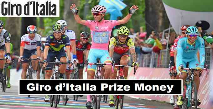 Giro d'Italia 2018 Winners Prize Money Announced