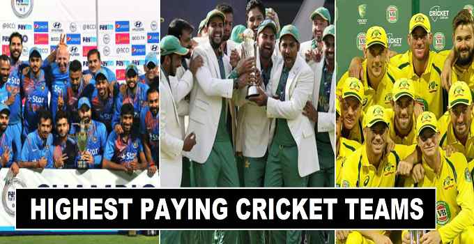 2017 Highest Salary Paying Cricket Teams in World