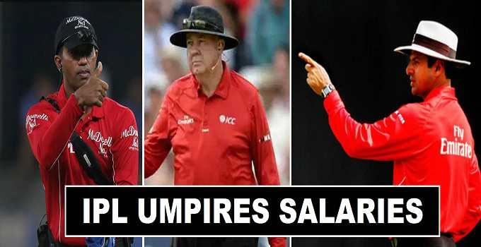 IPL Umpires Referees Salaries 2017