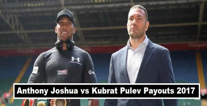 Joshua vs Pulev Purse Payout Split 2017 Fight