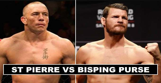 Bisping vs St Pierre Purse Payout 2017 UFC 217
