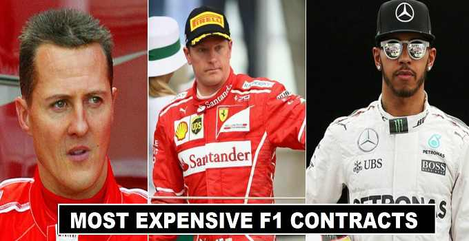 F1 Drivers Millionaire Contract Deals History