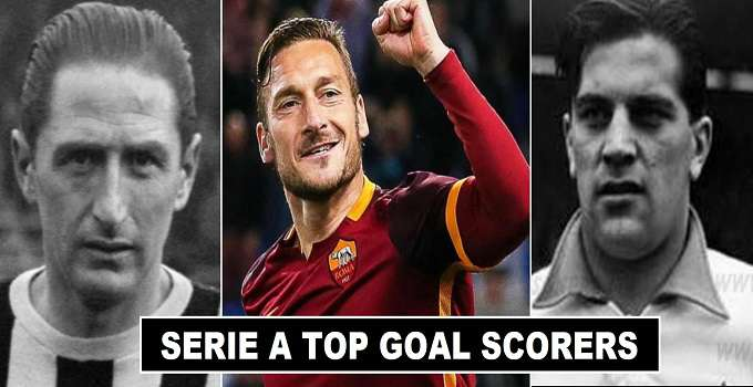 All time Serie A top goal scorers