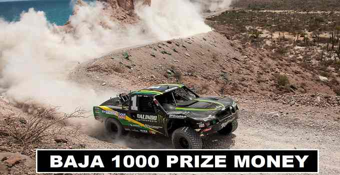 Baja 1000 prize money and cash prizes