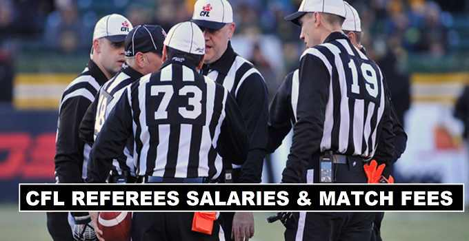 CFL Referees Salaries & Per Match Fees 2017