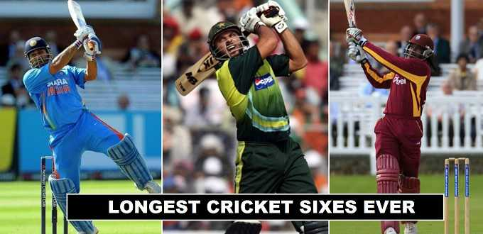 the biggest sixes ever hit in cricket