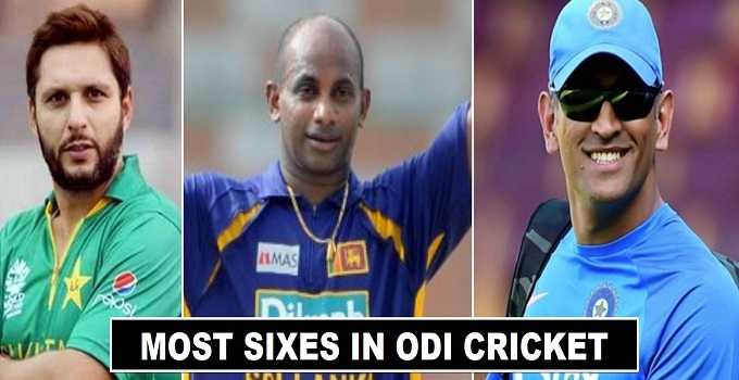 Players with Most Sixes in ODI Cricket