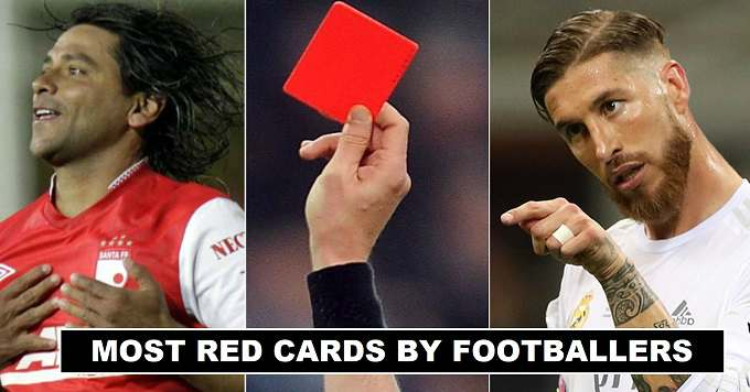 Football Players with Most Red Cards in Career
