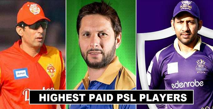 Highest Paid players Pakistan Super League 2018