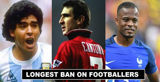 Football Players with Longest Bans History