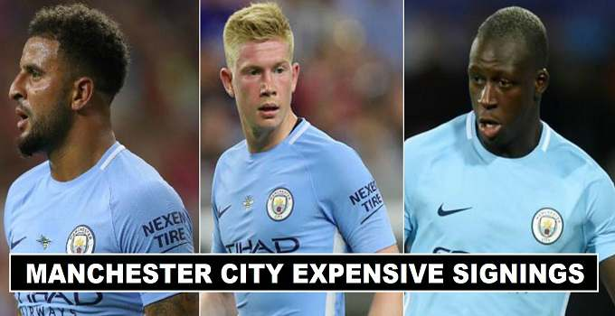 Manchester City Most expensive player signings in history
