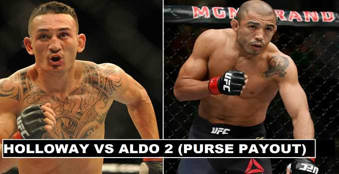 Max Holloway vs José Aldo Rematch Purse 2017