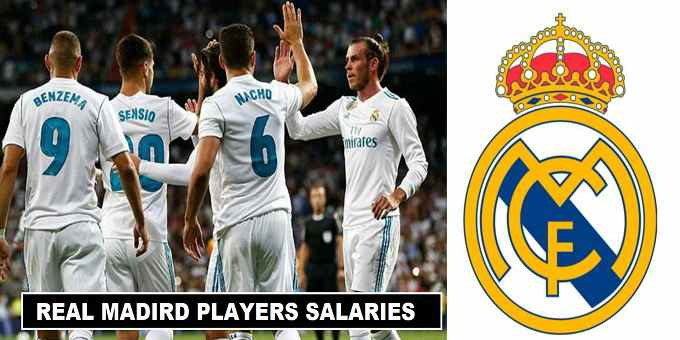Real Madrid players salaries 2018 weekly wages