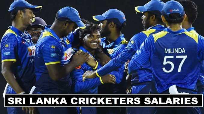 Sri Lanka cricket players salaries 2018