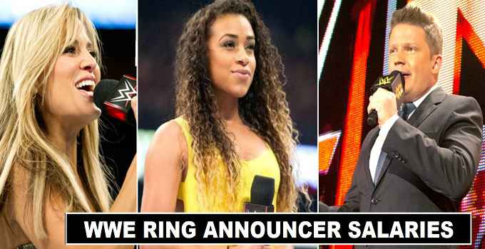 How much WWE Ring announcers salaries in 2018
