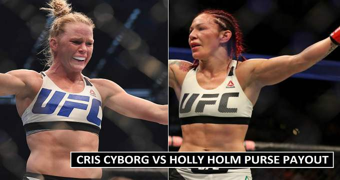 Cris Cyborg vs Holly Holm Purse 2018 Earnings