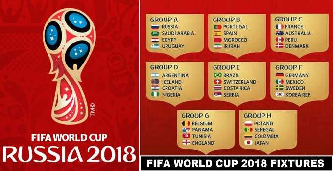 Fifa World Cup 2018 Schedule Announced