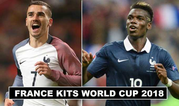 France Home & Away Kits World Cup 2018 Leaked