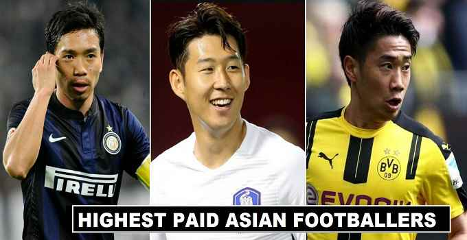 Highest Paid Asian Football Players 2018