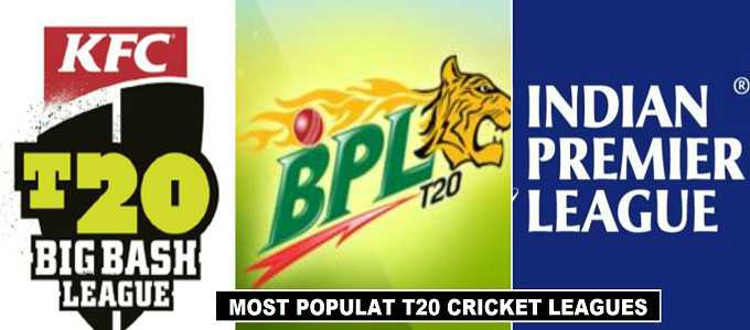 Most Popular T20 Cricket Leagues in 2018