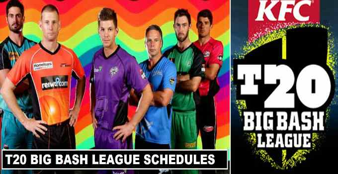T20 Big Bash League 2017-18 Schedules