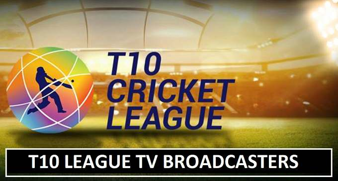 T10 Cricket League TV Broadcasters List