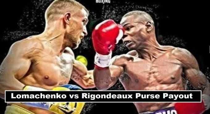 Vasyl Lomachenko vs Guillermo Rigondeaux purse payout 2017