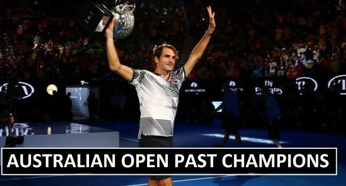 Australian Open Past Winners (1905-2018)