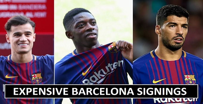 Barcelona Most Expensive Signings 2018
