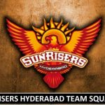 Sunrisers Hyderabad Team Squad IPL 2018 (Players Salaries)