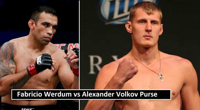 Werdum vs Volkov Purse Payout 2018