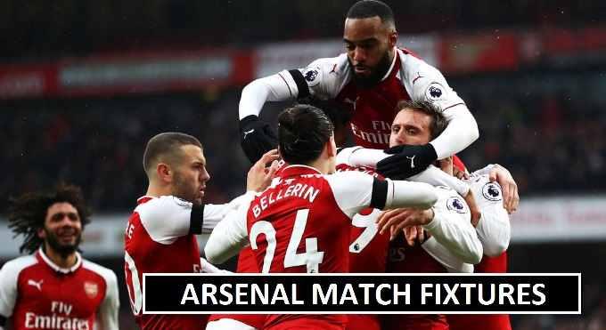 Arsenal 2018 Premier League Fixtures