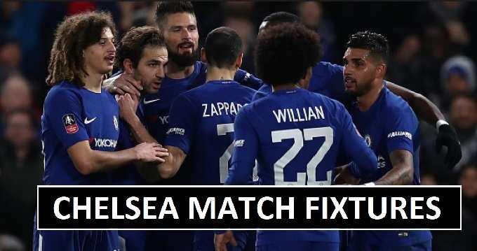 Chelsea Pre-season Fixtures 2018