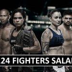 UFC 224 Fighters Salaries & Bonus (Total Gateway Earnings)