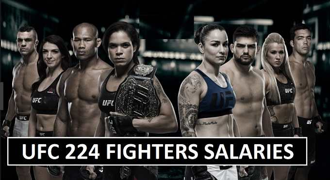 UFC 224 Salaries for Fighters